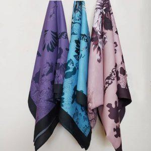 روسری حاشیه ابری کد8450