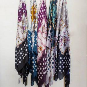 روسری حاشیه توپی کد8451